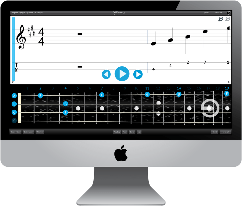 Purely Ukulele Software Application Screenshot